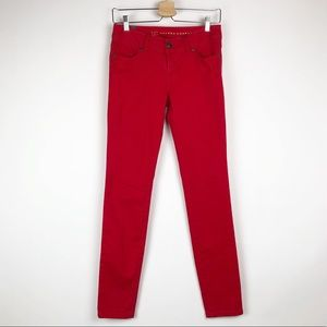 LC Lauren Conrad |NWOT Skinny Distressed Red Jeans